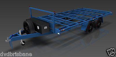Trailer Plans- 4.8m FLAT TOP TRAILER PLANS- PRINTED HARDCOPY-Car Trailer,Flatbed 7