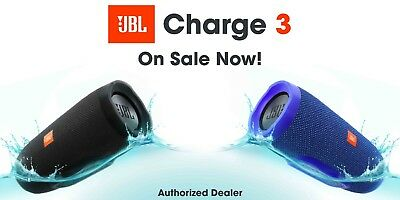 JBL Charge 3 Portable Bluetooth Speaker IPX7 Waterproof Blue *Authorized Dealer* 2