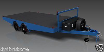Trailer Plans- 4.8m FLAT TOP TRAILER PLANS- PRINTED HARDCOPY-Car Trailer,Flatbed 5