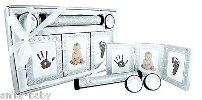 New Baby Keepsake Gift Set Christening Present Boy Girl - Silver Pink Blue Gold 8