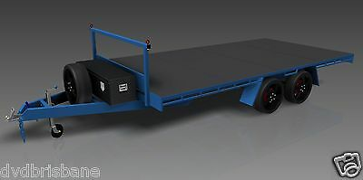 Trailer Plans- 4.8m FLAT TOP TRAILER PLANS- PRINTED HARDCOPY-Car Trailer,Flatbed 6