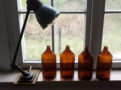 4x Apotheker Flaschen braun 0,5 l. 3
