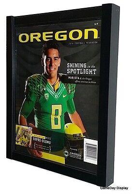 "Lot of 3 Sports Program Display Frame Magazine Black Standard Size Over .5/"" Deep"