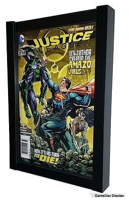 Comic Book Display Frame Case Shadow Box Black Magazine Lot of 2 A