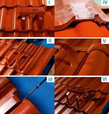 Heimwerker VertrauenswüRdig Einzeltritt Dachtritt Dachziegel Steigtritt Breite Verstellbar 250mm Graphit Neu Stand- & Tretroste