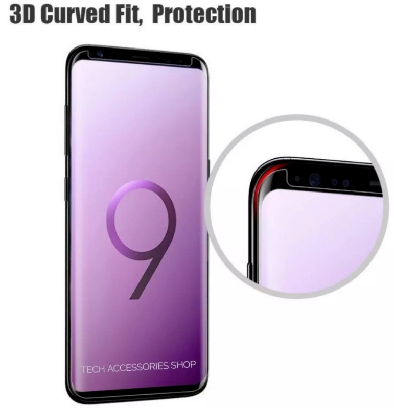For Samsung Galaxy S9 Plus 5D Curved Tempered Glass LCD Screen Protector 5