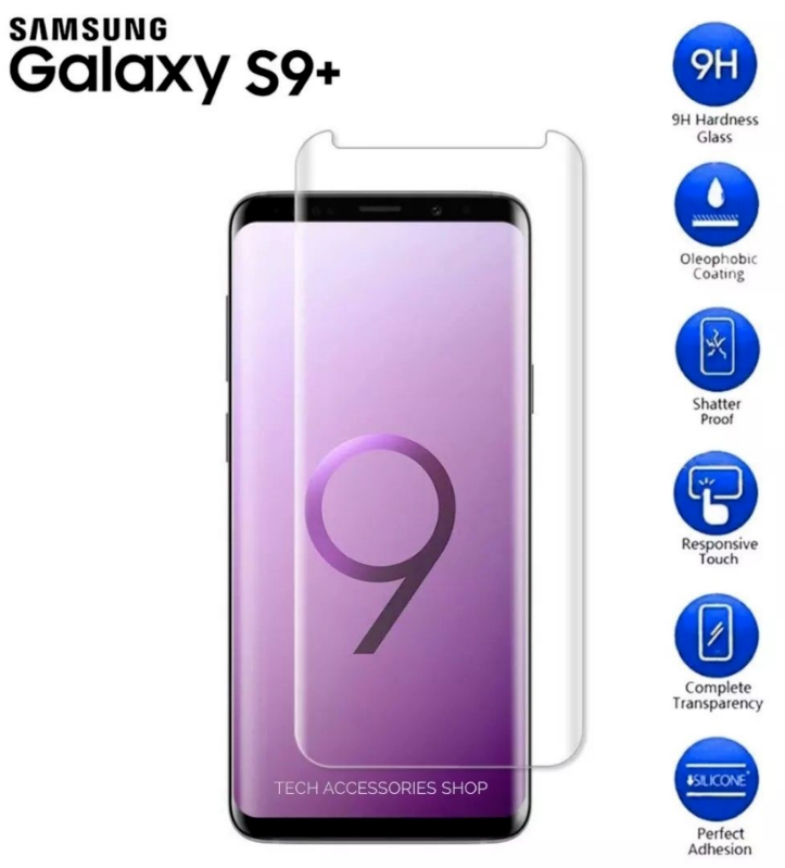 For Samsung Galaxy S9 Plus 5D Curved Tempered Glass LCD Screen Protector 3