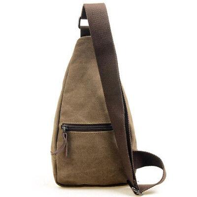 Men's Small Chest Sling Bag Travel Hiking Cross Body Messenger Shoulder Backpack 6