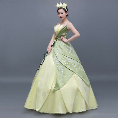 new concept 050ec 12866 THE PRINCESS AND the Frog Tiana Disney Cosplay Costume Abend Kleid Kostüm  dress