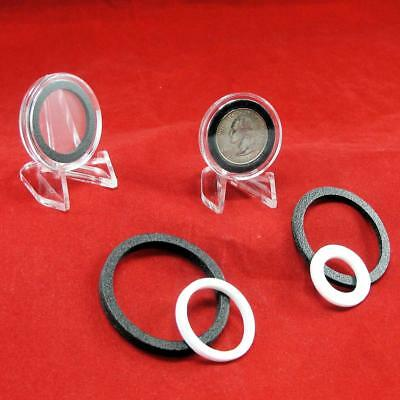 10 Count of Rings for Air-Tite Coin Holder Capsules, Choose Your mm Size & Color