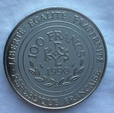 Monnaie De 100F Charlemagne 1990 En Argent Massif 900% 2