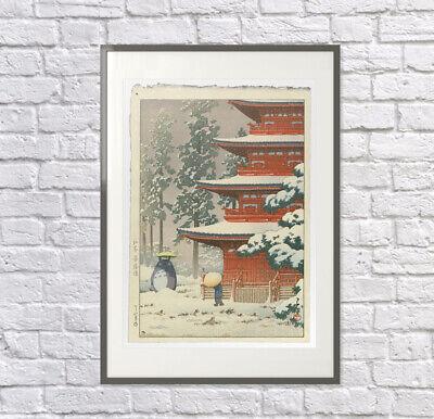 Totoro in the Snow Print, Totoro Poster, Studio Ghibli Gift, Totoro Art 5