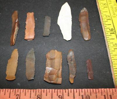 10 Egyptian Faiyum Predynastic Flint Flaked Hand Stone Tools 7400-6400 BC #7