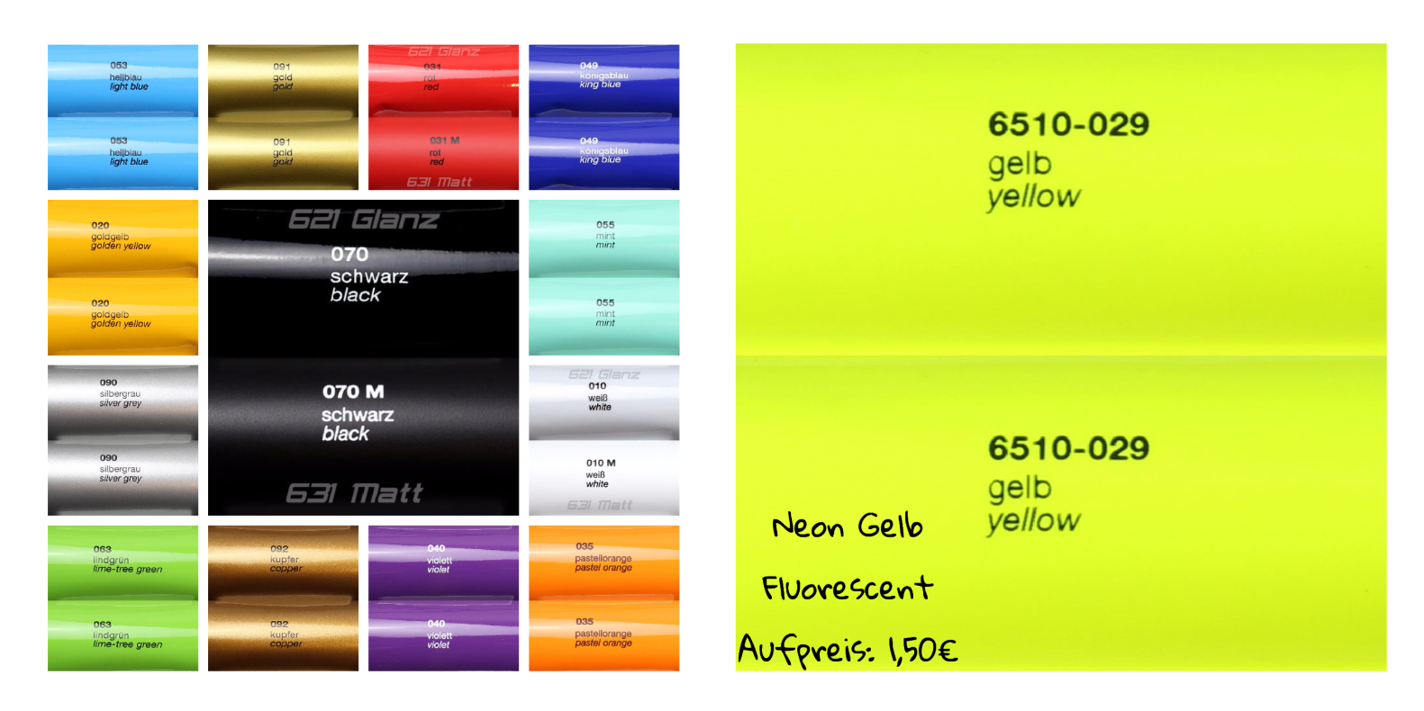 Sticker Aufkleber Neon Chrom Kiwistar Denk an die Umwelt 20 x 5 cm IN 15 Farben