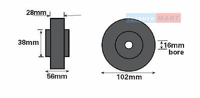Trailer Single Side Roller Brackets and 2 Rollers Dumbbell Style Pair LMX1478 5