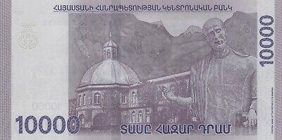 P-New Armenia 10000 10,000 Dram 2018 UNC New Design