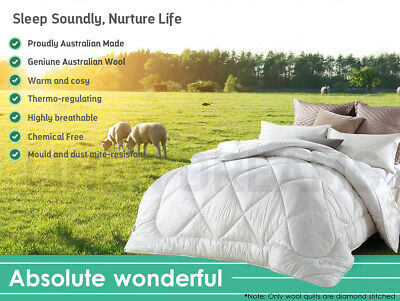 All Size Wool/Bamboo/Duck Down Feather/Microfibre Quilt Doona Duvet All Season