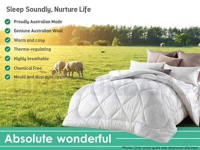 All Size Wool/Bamboo/Duck Down Goose/Microfibre Quilt Doona Duvet Summer Winter 5