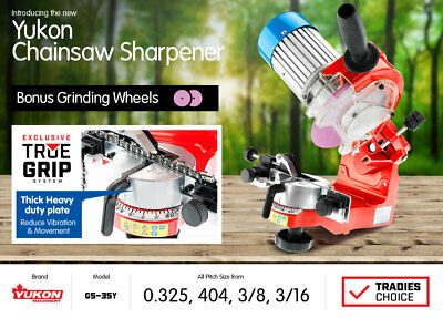 New ALLOY BENCH MOUNT ELECTRIC CHAINSAW SHARPENER CHAIN SAW GRINDER