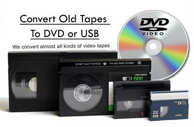 Transfer / Copy Your VHS Video Tape's to DVD or MP4 -  Fast Reliable Service 2