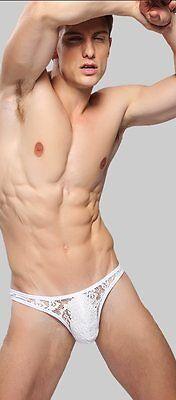 Slip String Dentelles Transparent Sexy Homme Thong Man Underwear Uomo Lenceria 4