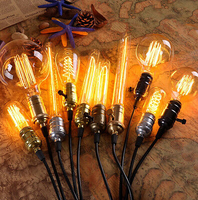 Vintage Retro Filament Edison Antique Industrial Style Lamp Light Bulb E27 40W 3