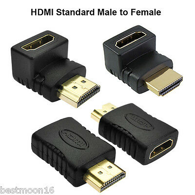 HDMI Male to Female Extension Adapter Converter Mini Micro HDMI Cable Connector
