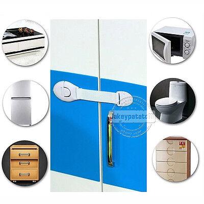 10 x Child Baby Cupboard Cabinet Safety Locks Proofing Door Drawer Fridge Kids 3