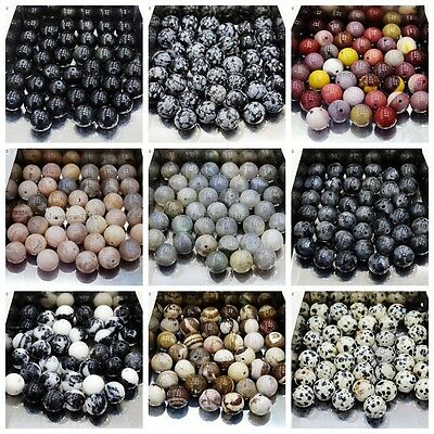 Wholesale Natural Gemstone Round Spacer Loose Beads 4mm 6mm 8mm 10mm 12mm Pick 2