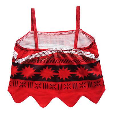 New Kids Costume Moana Princess Girl Cosplay Fancy Dress Deluxe Dress Xmas 3-10Y 3