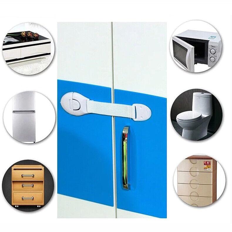 10x Baby Child Kid Box Drawer Cupboard Cabinet Wardrobe Door Safe Safety Lock qc 3