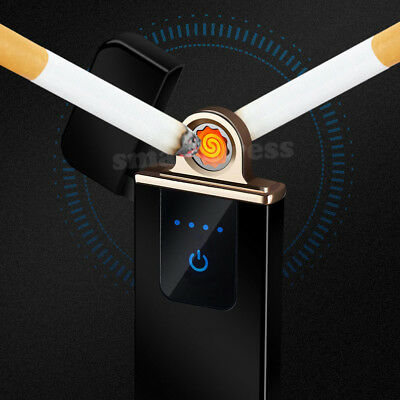 Windproof Electric Cigarette Lighter Touch Sensitive USB Rechargeable Flameless 2