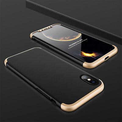 Hülle für iPhone X / Xs Max Full Cover 360° Grad Handy Schutz Case + Glas Folie