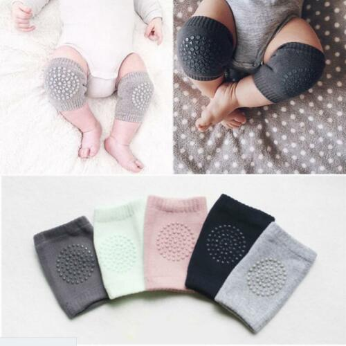 Baby Kids Socks Safety Knee Pads Infant Toddler Short Kneepad Crawling Protector 2