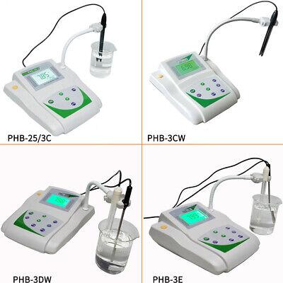 Benchtop pH Meter Lab mV Tester Digital Acidity Meter w/Temperature Compensation 2