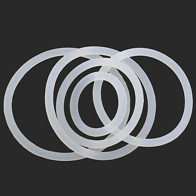 White Silicone O-Ring Gaskets Seals Rubber Gasket Clamp Free P&P OD 3mm-60mm 4