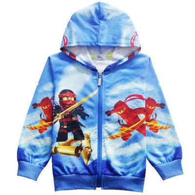 2018 Spring Lego Movie Ninjago Boys Zip-Up Costume Hoodie Sweatshirt O74