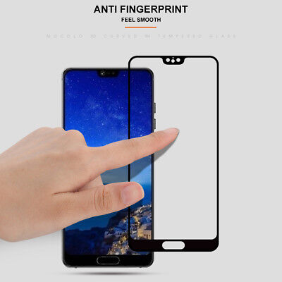 For Huawei P20 Pro Lite Premium Full Cover Tempered Glass Film Screen Protector 9