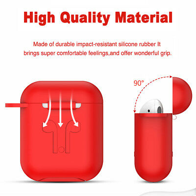 AirPods Silicone Case Cover Protective Skin for Apple AirPod Charging Case 6