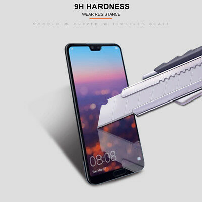 For Huawei P20 Pro Lite Premium Full Cover Tempered Glass Film Screen Protector 8