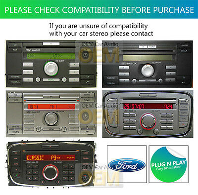 Ford 6006 CD Stereo Aux-Eingang Kabel Ipod IPHONE Android Ford Fiesta Aux Kabel