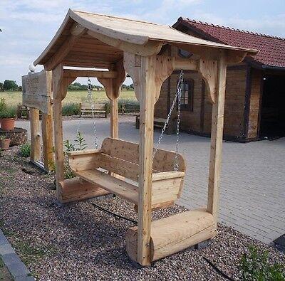 Gut gemocht HOLLYWOODSCHAUKEL AUS LÄRCHENHOLZ mit Dach ..Gartenmöbel.Holzmöbel MM95