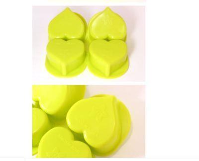 Silicone Four balls plain Hearts Soap Mould Mold