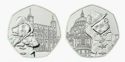 New 2019 Paddington Bear At The Cathedral . Tower . Station . Palace  50P Coin's 12