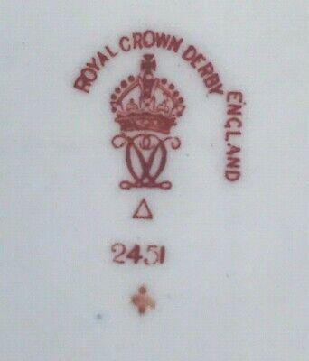 Rare Royal Crown Derby 2451 Or Traditional Imari Condiment Jar - Date Code 1917 10