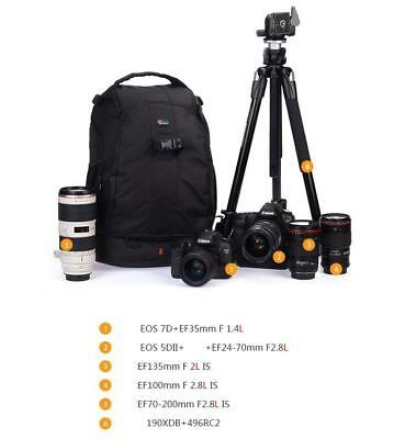 Lowepro Flipside 400 AW Pro DSLR SLR Camera Backpack Bag with All Weather Cover 9
