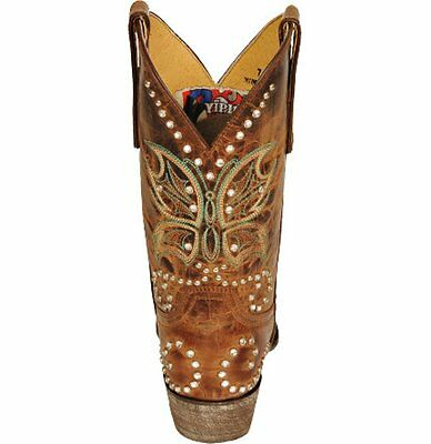 0d011345fa5 OLD GRINGO YIPPEE Ki Yay Butterfly Santa Brown Leather Snip Toe Boots  YL027-4