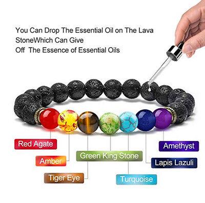Natural Stone Bead Bracelet Men Women Tiger Eye Turquoise Bangle Jewelry Gift 4