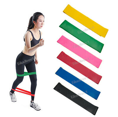 6PCS Resistance Bands Power Heavy Strength Exercise Fitness Gym Crossfit Yoga AU 4