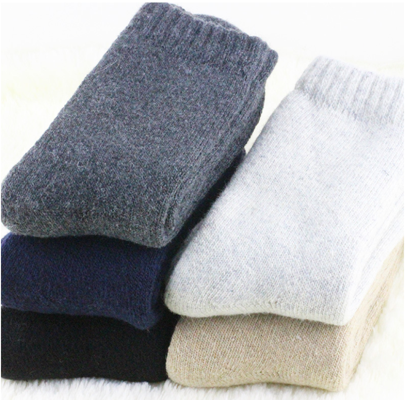 4Pairs Mens Wool Cashmere Warm & Soft Comfort Large Winter Thick Dress Socks 4